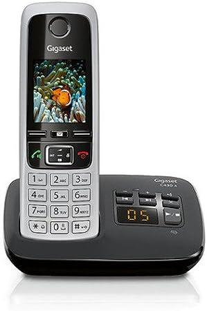 Gigaset C430A - Teléfono inalámbrico (DECT, 50 m, 300 m, 200 entradas) Negro