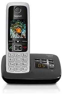 Gigaset CL660A - Teléfono (Teléfono analógico, Terminal inalámbrico, Altavoz, 400 entradas, Identificador de Llamadas, Gris): Amazon.es: Electrónica