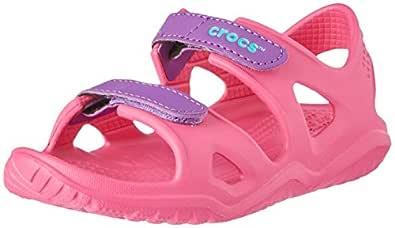 Crocs Unisex Kids Swiftwater River Sandal, Paradise Pink/Amethyst, J3
