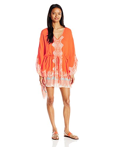 41c6bcf2e19 Angie Women s Coral Printed Caftan Dress