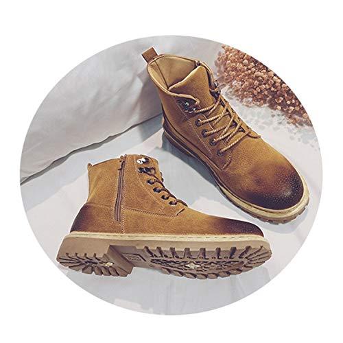 Toe Boots Steel Jump (GanQuan2018 Men's Work Boots Steel Toe Lace-Up Original Winter Hiking Boot)