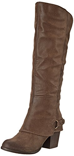 Ladies Western Shoe Boots - Fergalicious Women's Lexy Western Boot,Taupe, 9 M US