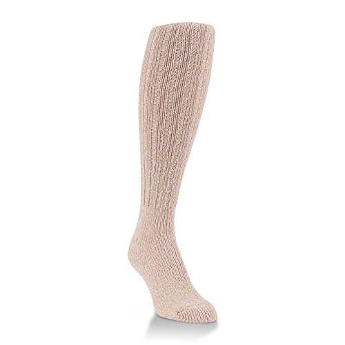 World's Softest Women's Weekend Collection Ragg Knit Knee High Socks Fits Most (Gingerbread)