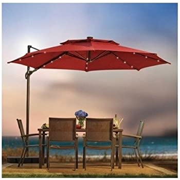 Amazon Com Outdoor Patio Cantilever Umbrella 11 Foot
