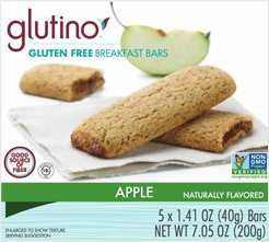 Glutino Gluten Free Breakfast Bars Apple -- 5 Bars