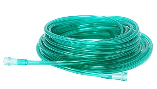 (Pivit Crush-Resistant Oxygen Tubing 25 ft Green | Low-Memory Helps Prevent Kinking Remains Straight | Green Is Easy To See For Improved Safety | Universal Fittings Connect Easy and Ensure Optimal Flow)