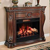 Lexington Infrared Electric Fireplace Mantel in Cherry - 33WM881-C232