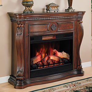 ClassicFlame Lexington Infrared Electric Fireplcae Mantel, Cherry