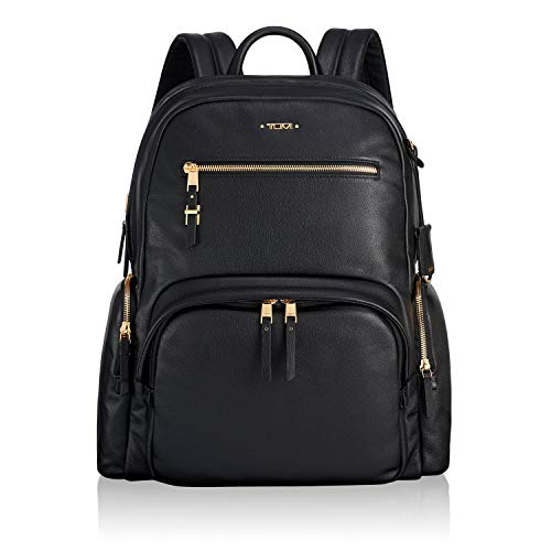TUMI - Voyageur Carson Leather Laptop Backpack - 15 Inch Computer Bag for Women (The Best Travel Backpack 2019)