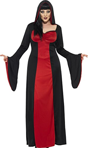 [Smiffy's Women's Dark Temptress Costume, Dress and Hood, Legends of Evil, Halloween, Plus Size 22-24,] (Alien Costume Woman)