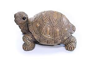Figura tortuga, Tortuga–Figura de resina para jardín y casa, aprox. 20cm x 12cm x 11cm