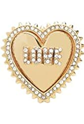 Juicy Couture Love Heart Ring Sparkling Crystal Adjustable Size 6-7