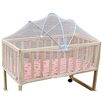 TOOGOO(R) Summer White Safe Baby Mosquito Nets Cradle Bed Canopy Mosquito Net Toddler's Crib Cot Netting Bedroom Accessories