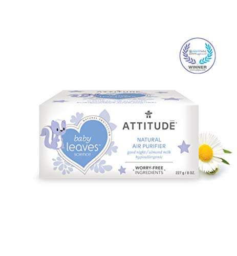 ATTITUDE Baby Leaves, Hypoallergenic Air Purifier with Activated Carbon Filter, Almond Milk, 8 Ounce ()
