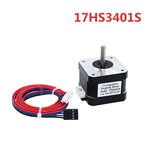 WillBest 1PC 17HS3401S 4-Lead Nema 17 Stepper Motor 42 Motor 42BYGH 1.3A CE ROSH ISO CNC and 3D Printer by WillBest