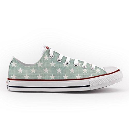 Converse All Star Personnalisé et Imprimés - chaussures à la main - produit Italien - Vintage Stars