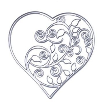 XBY.mi 1PCS Fatto a mano Artigianato FAI DA TE in acciaio al carbonio coltello a mano film di carta Die (cuore)