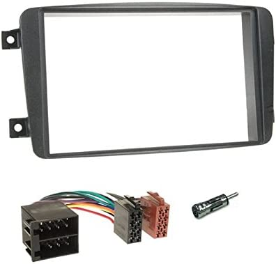 Auto radio diafragma instalación marco doble DIN 2-din para mercedes clase GL x164