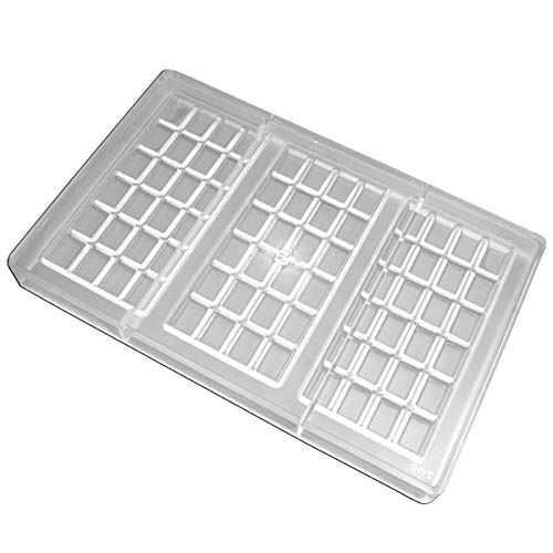 Fat Daddios Chocolate Mould - Fat Daddio's PCM-2110 Polycarbonate Bar Candy & Chocolate Mold, 11 x 7 Inch, Translucent