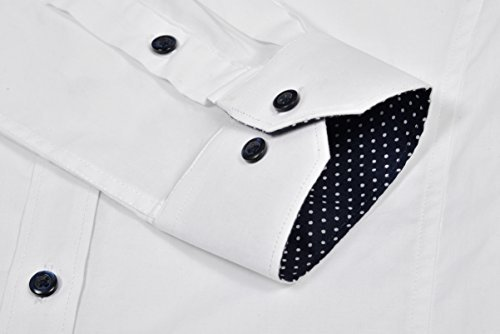Alex Vando Mens Dress Shirts Casual Regular Fit Spread Collar Shirt - stylishcombatboots.com