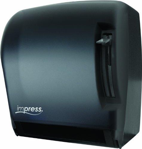 Palmer Fixture TD0220-02 Impress Lever Roll Towel Dispenser, Black Translucent