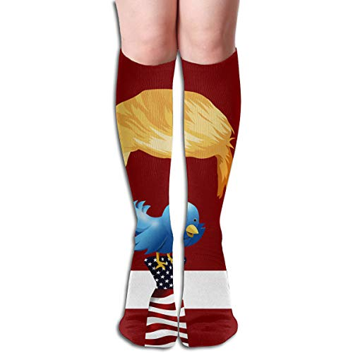 America Bird Chirp Tweet Funny Athletic Socks Best Knee High Socks For Women And Men Running Travel