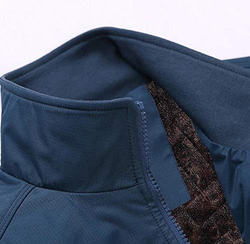 Plus Cotton Punk Velvet family Men's Plus Coat Winter Velvet Jacket Blue Size Loose Coat Plus qz7wYq