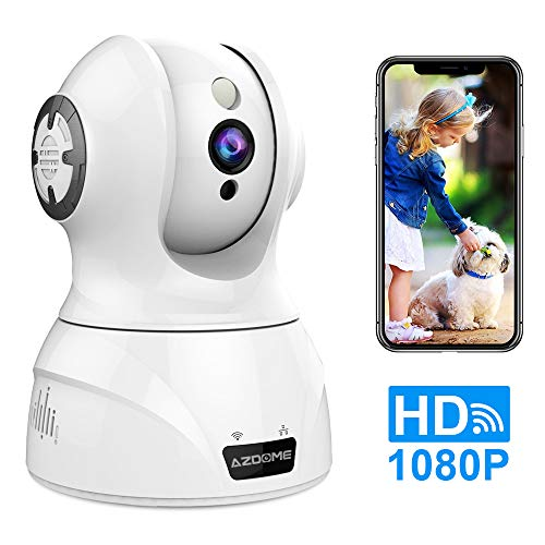 Security Camera WiFi IP Camera-AZDOME Indoor Security Surveillance with Motion Detection 2-Way Audio Pan Tilt Zoom Supports,Night Vision for Baby Elder Pet Monitor,Compatible with Alexa