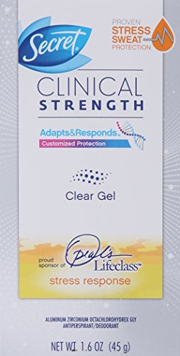 Secret Clinical Strength Clear Gel Women's Antiperspirant and Deodorant Stress Response, 1.6 Ounce