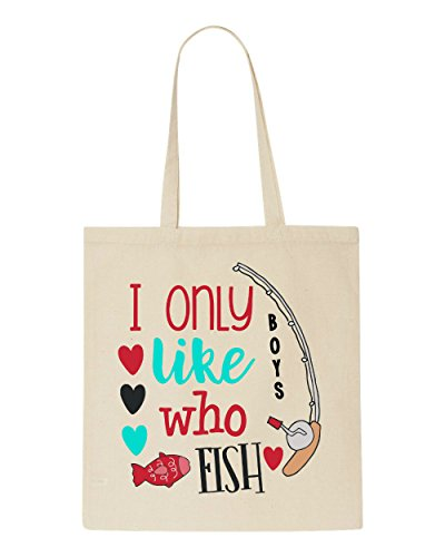 Who Beige Boys I Like Only Bag Fishing Fish Tote Shopper twt1B