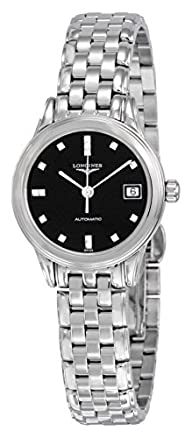 Longines Diamond Automatic Black Dial Stainless Steel Ladies Watch L42744596