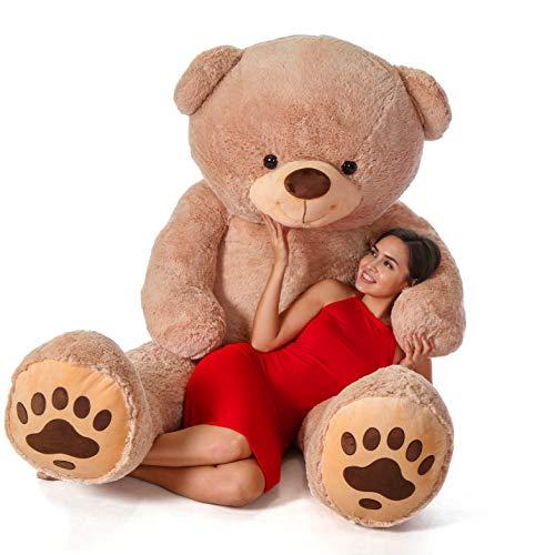 7 Ft Teddy Bear (Giant Teddy Brand - Premium Quality Giant Stuffed Teddy Bear (Amber Tan, 7)