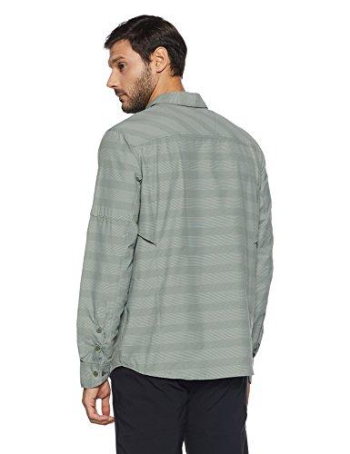 Men's Columbia Stripe Ridge Shirt Sleeve Cypress Long Plaid Silver BSqTa