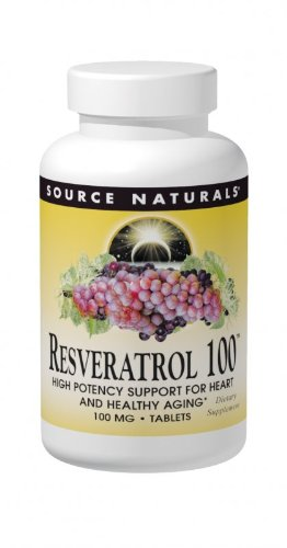 Source Naturals Resveratrol 100mg, 60 Capsules (Pack of 2)