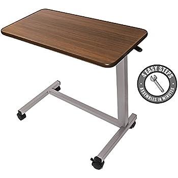 Amazon Com Adjustable Non Tilt Overbed Table Hospital