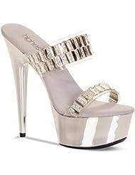 The Highest Heel Womens GLAMOROUS-31 Double Band Instep Straps Platform Sandal