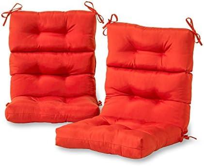 Greendale Home Fashions AZ6809S2-SALSA Fire Outdoor High Back Chair Cushion Set of 2