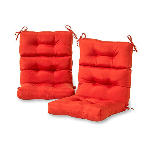 Greendale Home Fashions Outdoor High Back Chair Cushion (set of 2), Salsa by Greendale Home Fashions