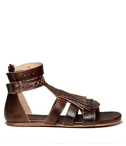 Bed|Stu Alena Leather Sandal (8 B(M) US, Teak Rustic)