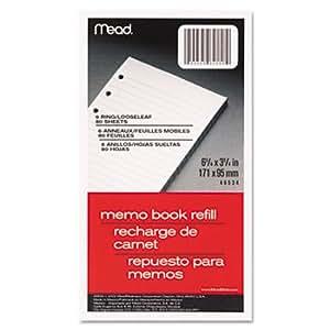 Amazon Com Mead Memo Filler 6 75 Quot X 3 75 Quot 6 Pack