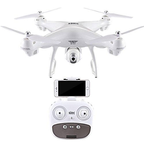 Professional-Photography-1080P-HD-120-wide-angle-Camera-Quadcopter-Headless-Mode-24GHz-GPS-FPV-Drone-S70W-WIFI-real-time-images-by-Perman-White