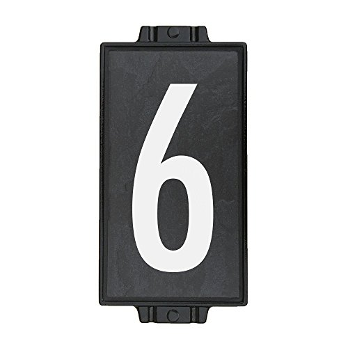 Charcoal Stone Address Plaque 1 by Craftsman House Numbers