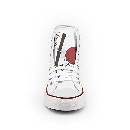 Converse All Star Personnalisé et Imprimés - chaussures à la main - produit Italien - Japan Flag