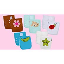 CLEARANCE SALE! 20 One Size Heavy Duty Embroidered Prints Pocket Diaper Shells with gusset