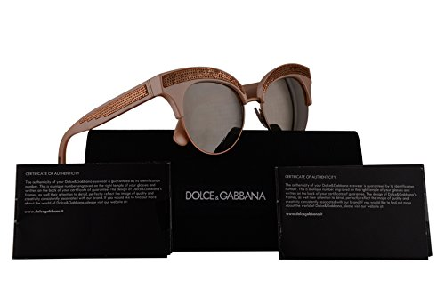 Dolce & Gabbana DG6109 Sunglasses Pearl Pink w/Light Brown Mirror Gold Lens 50mm 30995A DG - Dolce Cheap Gabbana And Eyeglasses