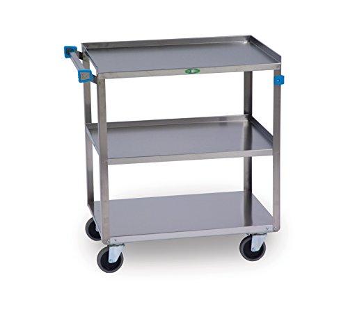 Lakeside 422 Stainless Steel Utility Cart; 500 Lb Capacity, 3 Shelf, 18