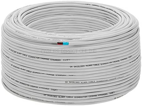 Security Burglar Station 500ft 18//2 Shielded Alarm Wire Cable Stranded Fire