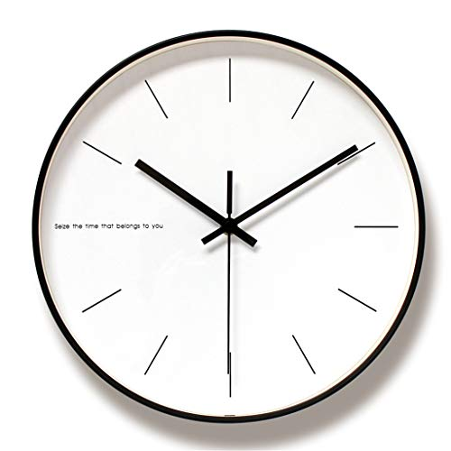 Nordic Art Mute Wall Clock for Home Decor 12 Inch Modern Minimalist Wall Clocks Simple Decorative Wall Watches