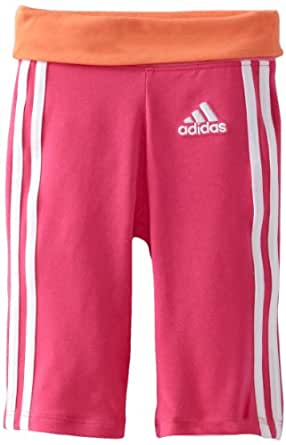 adidas Baby-Girls Infant Iconic Workout Capri, Bright Pink, 6 Months