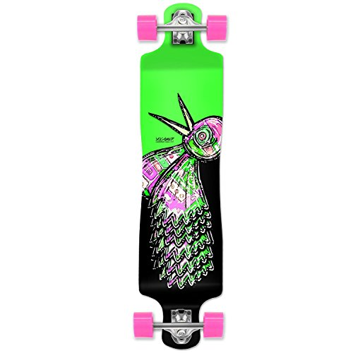 (Yocaher The Bird Series: Green Longboard Complete Skateboard - Available in All Shapes (Lowrider))